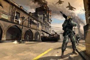 artwork, Aircraft, Soldier, Battlefield, Concept art