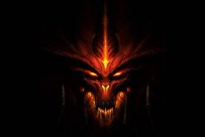 Diablo III, Black background, Video games, Diablo, Demon