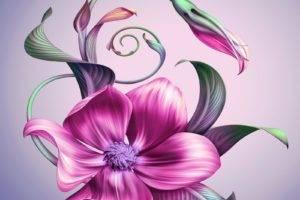 artwork, Flowers