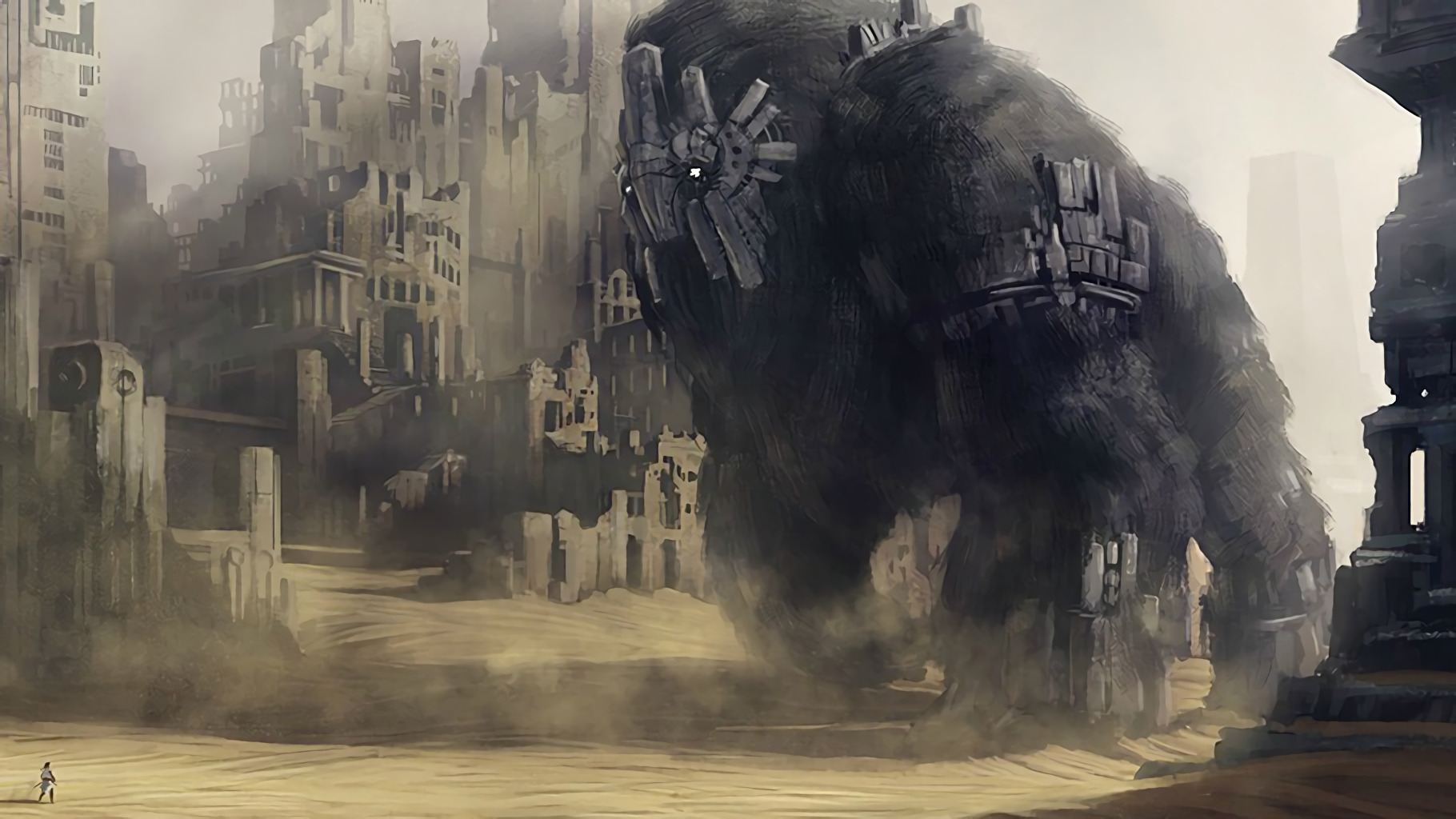 Shadow of the colossus artwork wallpapers hd desktop - Shadow of the colossus iphone wallpaper ...