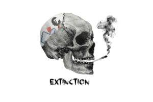 abstract, Skull, Smoke, Death, Simple, Social networks