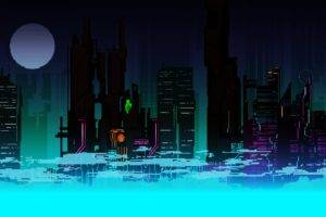 digital art, Pixel art, City, Colorful, Concept art