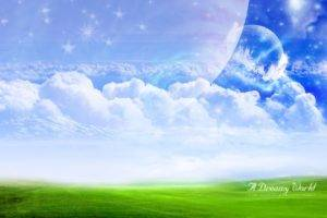 fantasy art, Digital art, Landscape, Clouds, Sky