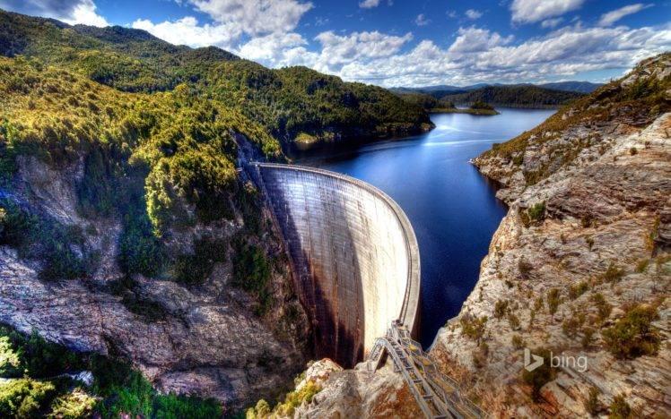Nature Australia River Dam Wallpapers Hd Desktop And