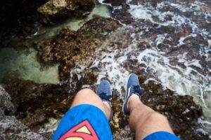legs, Nature, Water, Cliff, Shoes