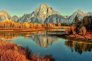 nature, Landscape, Mountains, Water, River