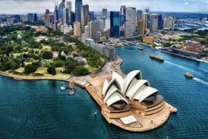 sky, Clouds, Sydney Opera House