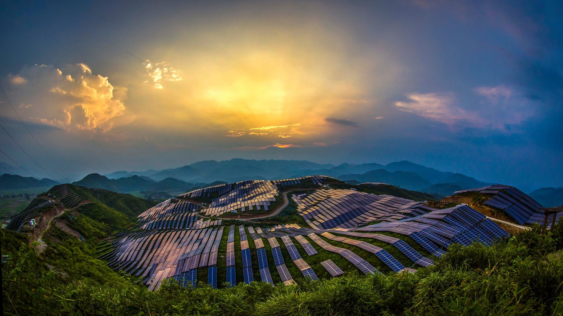 Nature Landscape Trees Forest China Solar Power