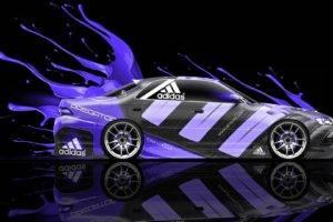 car, Digital art, Vehicle, Adidas
