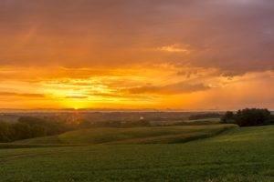 landscape, Sun, Clouds