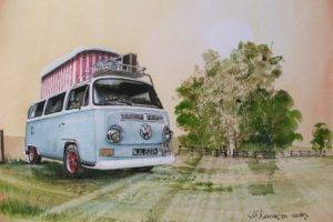 Volkswagen, Car, Vehicle, Artwork