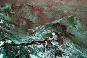 landscape, Mountains, Snowy peak, Aerial view