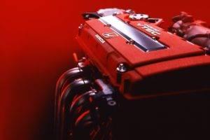Honda, Japanese cars, JDM, Type r, Red, Engines, B16, Honda Civic