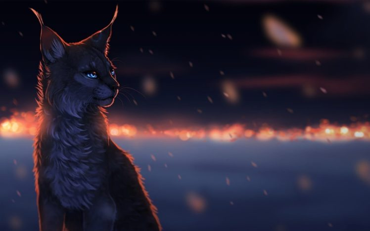 digital art, Cat Wallpapers HD / Desktop and Mobile Backgrounds