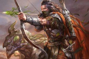 warrior, Archers, Legend of the Cryptids, Artwork, Fantasy art, Armor, Arrows