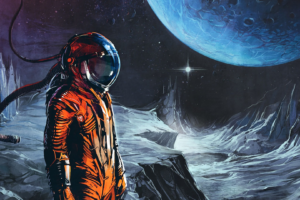astronaut, Digital art, Fantasy art, Space, Universe, Spacesuit, Planet, Helmet, Stars, Album covers, Cover art