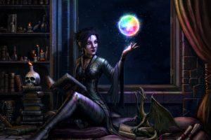 magician, Women, Fantasy art, Artwork