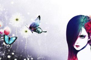 women, Face, Butterfly, Fantasy girl, Fantasy art, Artwork