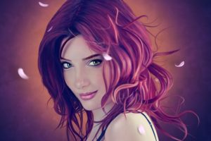 Susan Coffey, Artwork, Women, Redhead, Face