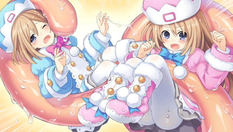 Hyperdimension Neptunia, Anime girls, Ram (Hyperdimension Neptunia), Rom (Hyperdimension Neptunia), Anime HD Wallpaper Desktop Background