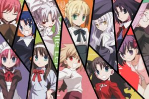 Fate Stay Night, Anime girls, Saber, Rider (Fate Stay Night), Sakura Matou, Tohsaka Rin, Illyasviel von Einzbern