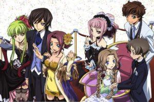 Code Geass, Kururugi Suzaku, Lamperouge Lelouch, Kallen Stadtfeld, C.C., Anime