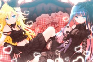 anime, Anime girls, Panty and Stocking with Garterbelt, Anarchy Panty, Anarchy Stocking