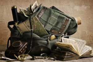 adventurers, Map, Backpacks, Books