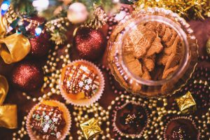Christmas ornaments, Cookies, Muffins