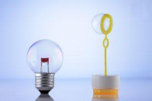 light bulb, Bubbles