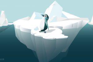 macellan, Penguins, Iceberg, Cold, Low poly