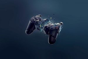 controllers, Technology, PlayStation, Broken, Play Station, Video games, Blue, Black, Consoles, DualShock, DualShock 3