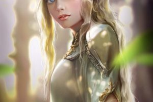 elves, Women, Crown, Fantasy art