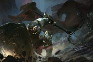 warrior, Fantasy art, Sword