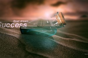 mount scenery, Pneuma Breath of Life, Dusk, Hope, Ship in a bottle, Digital art, Sand, Bottles, Typography, 2017 (Year), Nature