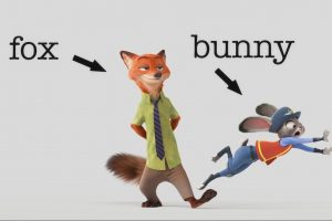 Anthro, Judy Hopps, Nick Wilde, Zootopia, Screen shot, Animals, Fox, Rabbits, Movies, Cartoon, 3D