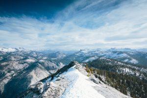nature, Mountains, Snowy peak, Clouds, Landscape