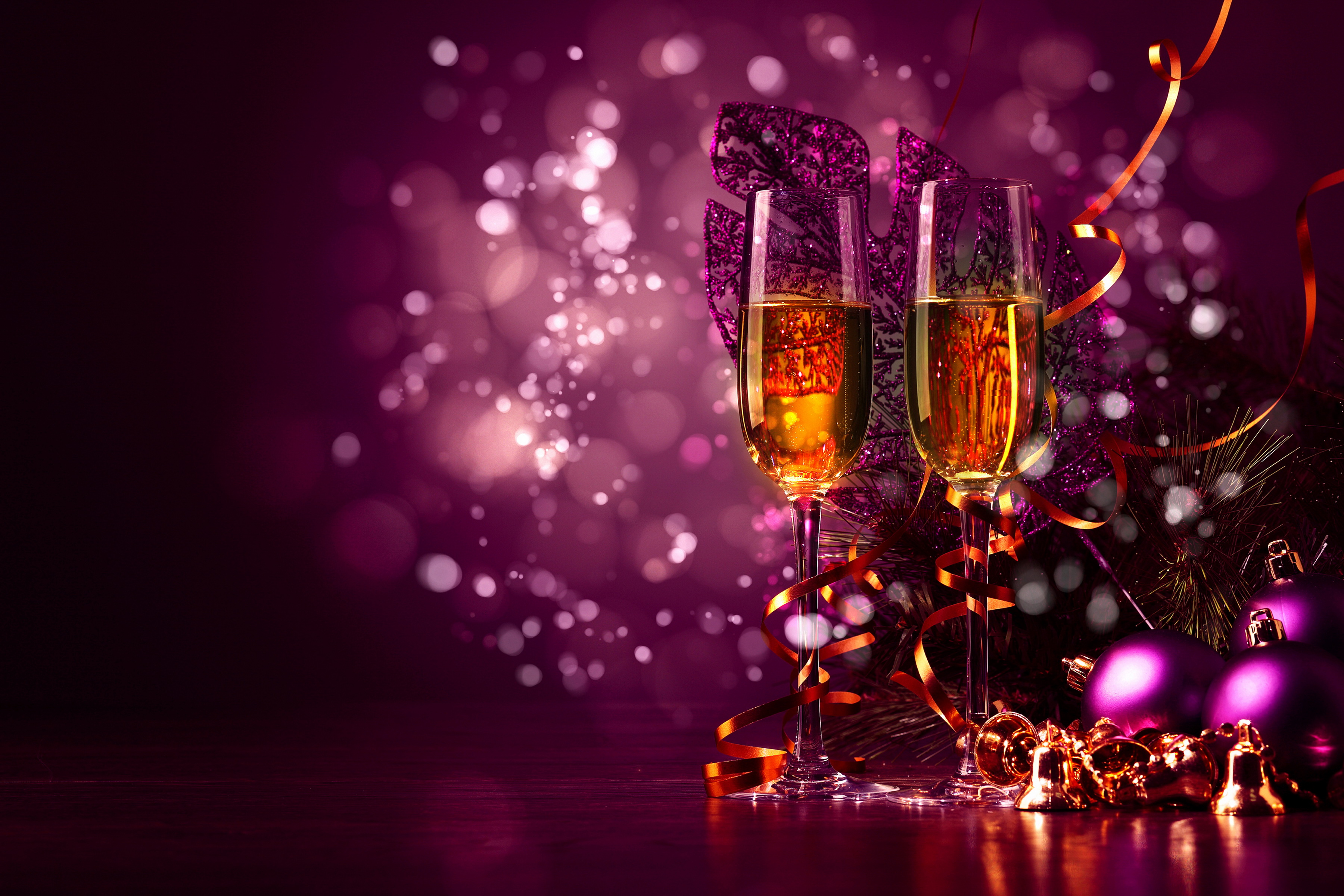 holidays, christmas, new year, stemware wallpapers hd / desktop and