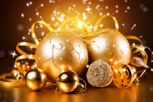 gold, New Year, Christmas