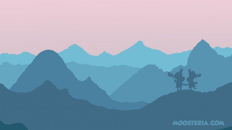 heart, Mountains, Moose, Moosteria, Love HD Wallpaper Desktop Background
