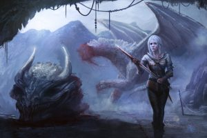 fantasy art, Fantasy girl, The Witcher 3: Wild Hunt, The Witcher