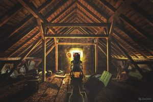 clown, Photo manipulation, The attic, Toys in the attic