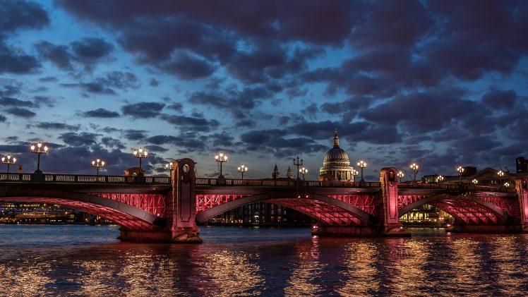 London, Dusk, Bridge HD Wallpaper Desktop Background