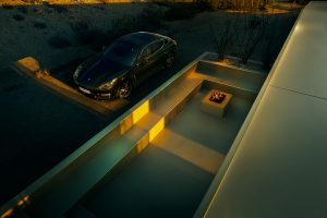 car, Vehicle, Porsche, Porsche Panamera, CGI, Sunset, Architecture