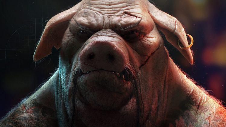 video games, Pigs, Animals, Beyond Good & Evil 2, Scars, Beyond Good & Evil HD Wallpaper Desktop Background