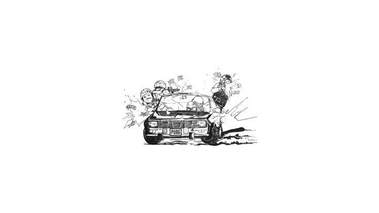 Pubg Video Games Artwork Drawing Digital Art Car Shooting Gun