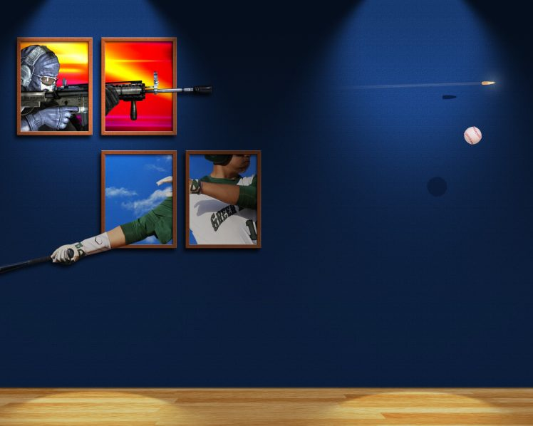 batter, Hitter, Sniper rifle, Baseball, Shooter, Bullet, Ball HD Wallpaper Desktop Background