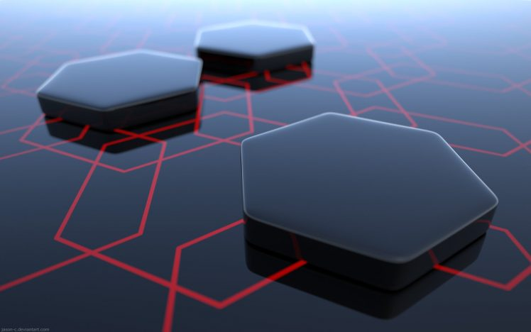 abstract, Hexagon, 3D HD Wallpaper Desktop Background