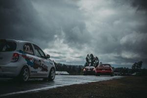 car, Race cars, Clouds