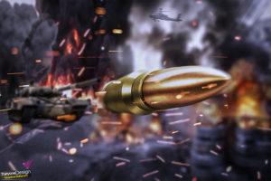 war, Tank, Bulletproof vest, Weapon, Sparks, Firefight, Fire